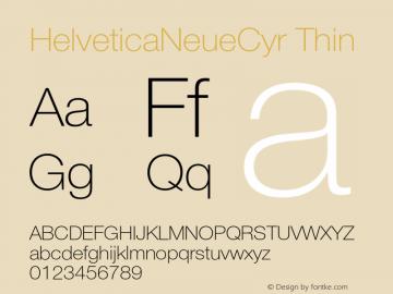HelveticaNeueCyr Thin 001.000图片样张