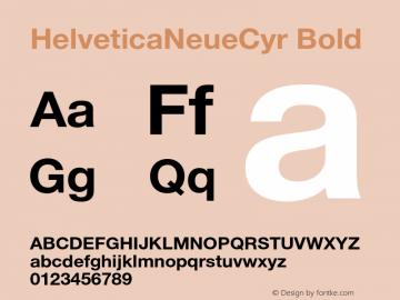 HelveticaNeueCyr Bold 001.000图片样张