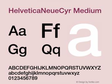 HelveticaNeueCyr Medium 001.000图片样张