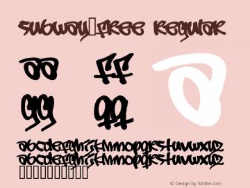 Subway_Free Regular Version 1.000;PS 001.001;hotconv 1.0.38 Font Sample