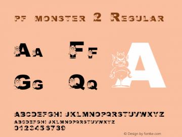 pf_monster-2 Regular 2001; 1.0, initial release图片样张