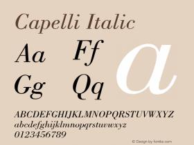 Capelli Italic Rev. 002.001 Font Sample