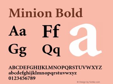 Minion Bold 001.000 Font Sample