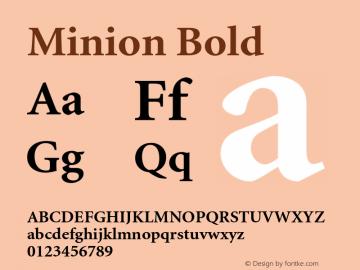 Minion Bold 001.001 Font Sample
