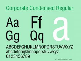 Corporate Condensed Regular Rev. 002.001 Font Sample