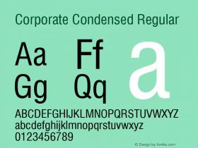 Corporate Condensed Regular Rev. 002.002 Font Sample