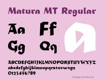 Matura MT Regular Version 1.00 - June 2001 Font Sample