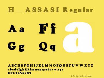 H_ASSAS1 Regular 1997. 01. 21.图片样张