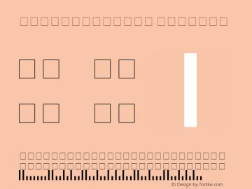 PostalBarCode Regular 001.003 Font Sample