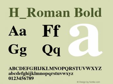 H_Roman Bold 1.000 Font Sample