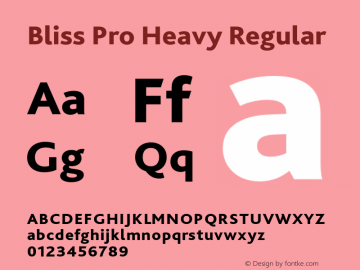 bliss pro bold font free download