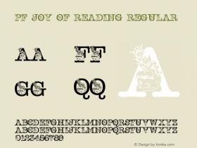 pf_joy_of_reading Regular 2001; 1.0, initial release图片样张