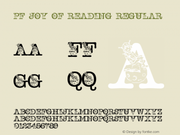 pf_joy_of_reading Regular 2001; 1.0, initial release图片样张