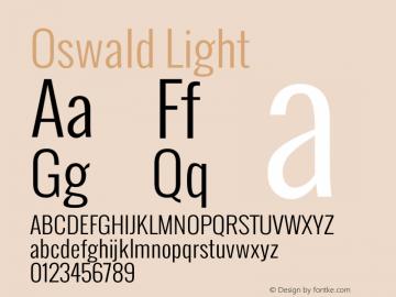 Oswald Light Version Font Sample