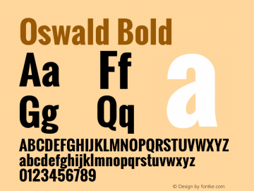 Oswald Bold Version 2.002; ttfautohint (v0.92.18-e454-dirty) -l 8 -r 50 -G 200 -x 0 -w