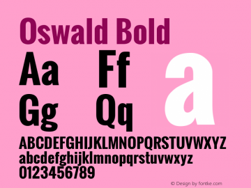 Oswald Bold Version 2.002; ttfautohint (v0.92.18-e454-dirty) -l 8 -r 50 -G 200 -x 0 -w