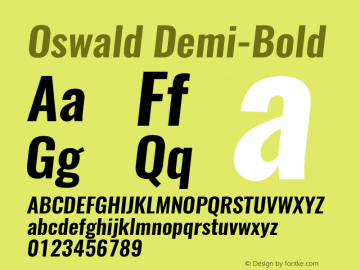 Oswald Demi-Bold 3.0; ttfautohint (v0.94.23-7a4d-dirty) -l 8 -r 50 -G 200 -x 0 -w