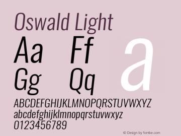 Oswald Light 3.0; ttfautohint (v0.95.6-bc232) -l 8 -r 50 -G 200 -x 0 -w