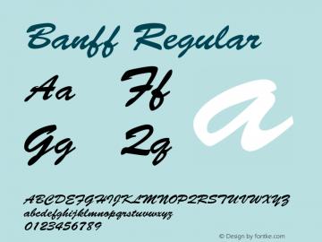 Banff Regular v1.00 Font Sample