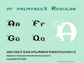 pf_palmtree3 Regular 2001; 1.0, initial release图片样张