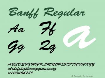 Banff Regular 001.003 Font Sample