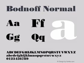 Bodnoff Normal 1.0 Tue Nov 17 22:25:11 1992 Font Sample