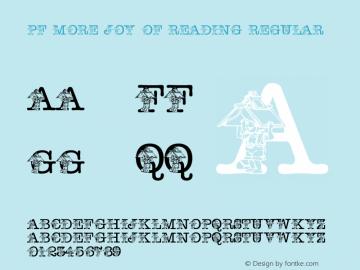 pf_more_joy_of_reading Regular 2001; 1.0, initial release图片样张