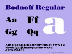 Bodnoff Regular v1.00 Font Sample