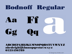 Bodnoff Regular 001.003 Font Sample