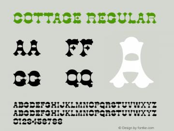 Cottage Regular v1.0c Font Sample