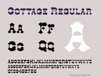 Cottage Regular 1.0 Wed Aug 23 18:49:16 1995 Font Sample