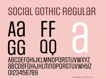 Social Gothic Regular Version 2.034 2014图片样张