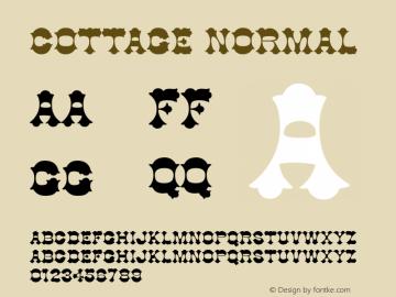 Cottage Normal 1.0 Wed Nov 18 00:08:24 1992 Font Sample