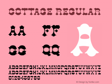 Cottage Regular v1.0c Font Sample
