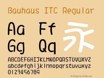 Bauhaus ITC Regular Version 1.20 Font Sample