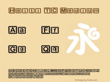Heiti TC Medium 6.1d10e1 Font Sample
