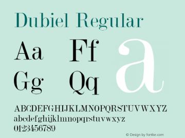 Dubiel Regular Altsys Metamorphosis:8/18/91 Font Sample