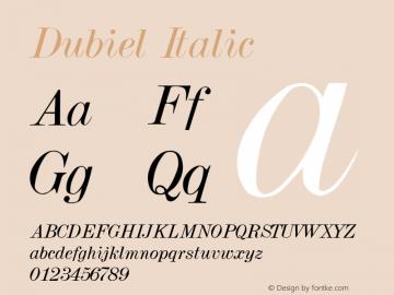 Dubiel Italic Altsys Metamorphosis:3/7/92 Font Sample
