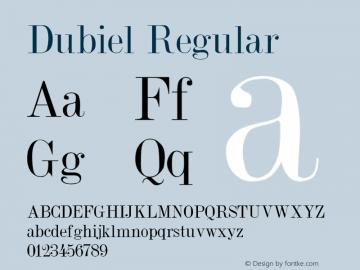 Dubiel Regular Altsys Metamorphosis:4/4/92 Font Sample