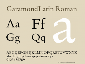 GaramondLatin Roman Version 001.000图片样张