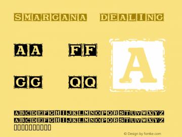 Smargana Dealing Version Macromedia Fontograp Font Sample