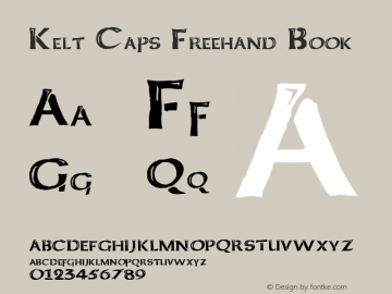 Kelt Caps Freehand Book Version Basic 1.0 Font Sample