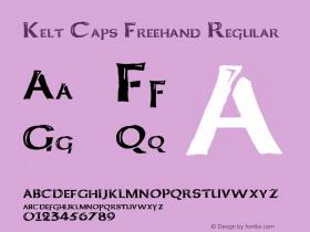 Kelt Caps Freehand Regular Basic 1.0图片样张