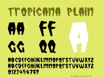 Tropicana Plain Altsys Fontographer 3.3  5/13/94 Font Sample
