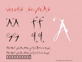 Velour Regular Macromedia Fontographer 4.1.3 10/1/98图片样张