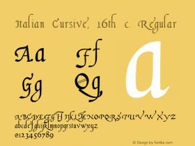 Italian Cursive, 16th c. Regular 1.1图片样张