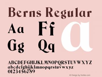 Berns Regular Unknown图片样张