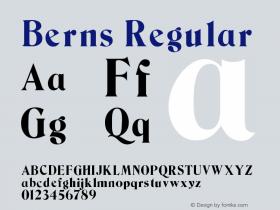 Berns Regular Version 0.0 Font Sample