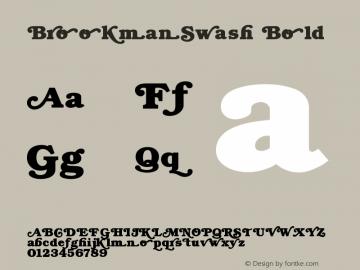 BrookmanSwash Bold Version 0.0 Font Sample