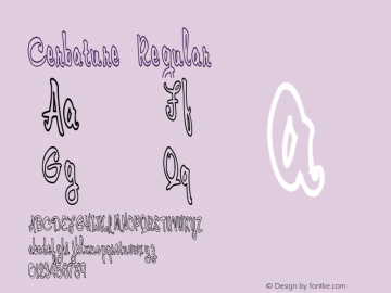 Cerbature Regular 1.0 of this wacky little font Font Sample